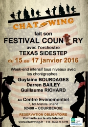 Chatswing, association de danse à Courbevoie fait son festival de Country Line-Dance