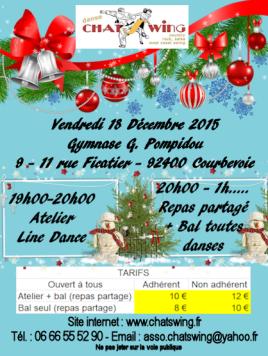 Chatswing, association de danse à Courbevoie fête noël avec une soirée toutes danses