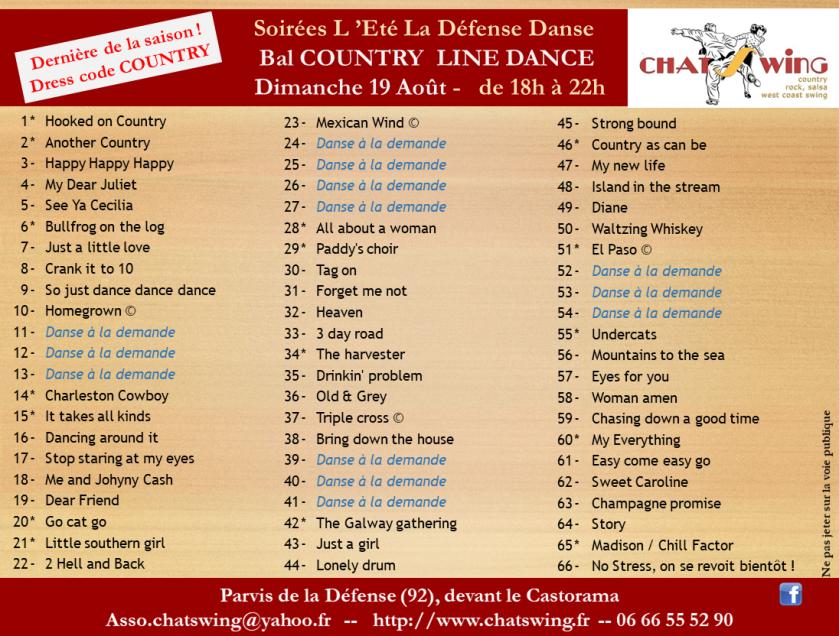 La defense danse avec Chatswing - playlist 31 Juillet