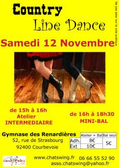 Atelier et un bal  de Country Line Dance  à Courbevoie (92) près de Paris La Défense à quelques encablures de Neuilly, Nanterre, Colombes, Asnières, Puteaux, Suresnes direct depuis la gare Saint Lazare (75)