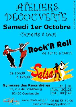 Chatswing, association de danse à Courbevoie propose un atelier de découverte de la country Line dance et du West Coast Swing