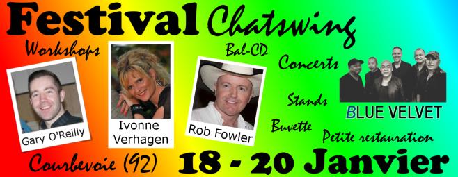 Festival Chatswing Courbevoie Gary O'Reilly, Ivonne Verhagen, Rob Fowler et les DCM6 !
