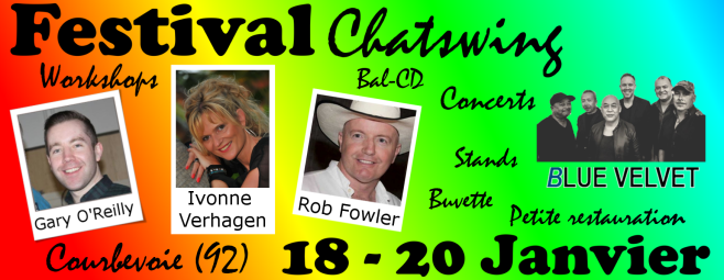 Festival Chatswing Courbevoie Gary O'Reilly, Ivonne Verhagen, Rob Fowler et les DCM6 !